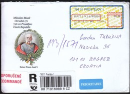 Czech Republic Prostejov 2014 / R Letter - Cover / Kaiser Franz Josef I - Emperor Franz Joseph I - Tchéquie