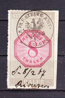 Stempelmarke, Preussen, 8 Thaler (54742) - Gebührenstempel, Impoststempel