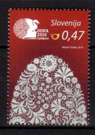 2016 Slovenia -17th World Lace Congress - Best Stamps Of 2016 - 1 V - MNH** - Textil