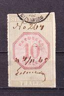 Stempelmarke, Preussen, 10 Thaler (54743) - Gebührenstempel, Impoststempel