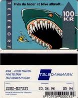 TARJETA TELEFONICA DE DINAMARCA. TDJD013c, SHARK, 05.94. TIRADA 40000 (079) - Dinamarca