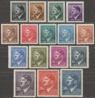 68/ Bohemia & Moravia; ** Nr. 78 - 99; Majority Part Stamp Set - Unused Stamps