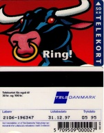 TARJETA TELEFONICA DE DINAMARCA. TDJD015, Bull - Ring, 05.95. CN2106 (084) - Dinamarca