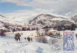 Carte  Maximum  1er   Jour    FRANCE   TROUPES  ALPINES    GRENOBLE    1988 - Cartes-Maximum