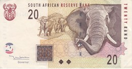 BILLETE DE SURAFRICA DE 20 RAND DEL AÑO 2005 EN CALIDAD EBC (XF)    (BANKNOTE)  ELEFANTE-ELEPHANT - Sudafrica