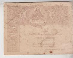 SANTINO HOLY CARD  SOUVENIR DE LA COMMUNION PASCALE 1899 PAROISSE DE CHAMPORCHER G/P - Santini