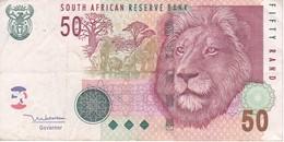 BILLETE DE SURAFRICA DE 50 RAND DEL AÑO 2005    (BANKNOTE)  LEON-LION - Suráfrica
