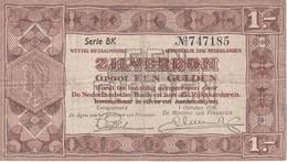BILLETE DE HOLANDA DE 1 GULDEN DEL AÑO 1938  (BANKNOTE) - [2] 1815-… : Reino De Países Bajos