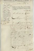 LS Goswin De Stassart , Homme Politique Et écrivain Belge , Alors Préfet Des Bouches De La Meuse . La Haye 1811 . - Autographs