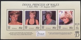 Tuvalu  1998 Diana Princess Of Wales  POSTAGE FEE TO BE ADDED ON ALL ITEMS - Tuvalu