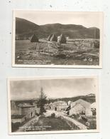 Cp , Militaria Guerre 1939-45 , Juillet 1944 , 26 , VASSIEU EN VERCORS , Ruines , Les Planeurs, LOT DE 2 CARTES POSTALES - Guerra 1939-45