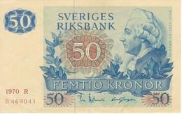BILLETE DE SUECIA DE 50 KRONOR DEL AÑO 1970 EN CALIDAD EBC (XF)  (BANKNOTE) GUSTAV III - Suecia