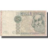 Billet, Italie, 1000 Lire, KM:109b, TTB - [ 2] 1946-… : République