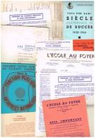 Ecole E.A.F Enseignement Supérieur Technoique & Professionnel Paris Fonction Public Normale Au Foyer Aviation Banque.... - Non Classés