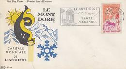 Enveloppe  FDC  Flamme  1er  Jour   FRANCE   LE   MONT - DORE   1961 - 1960-1969
