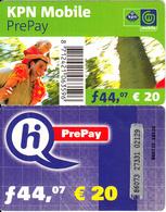 NETHERLANDS - KPN/Hi Prepaid Card 44.07 NLG/20 Euro, Exp.date 31/12/02, Used - Netherlands