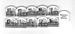 10  Féves  Transport, Personnages Du Tramway  éditée Par La Boulangerie  FIGARD  à  BESANÇON  ( 25 ) - Characters