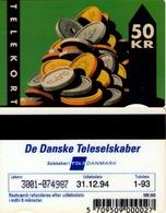 TARJETA TELEFONICA DE DINAMARCA. TDFD004C, COINS, 1.93. CN3001 (080) - Denmark