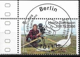 2017 Allem. Fed. Germany , Deutschland  Mi. 3318 FD-used Berlin EOL   100. Geburtstag Von Heinz Sielmannn - Gebraucht