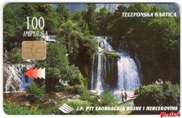 Bosnia PTT Sarajevo - Waterfall Una 100 Units Used - Bosnia