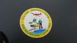 Autocollant   Club Modeliste Beaumontois 95 - Autocollants