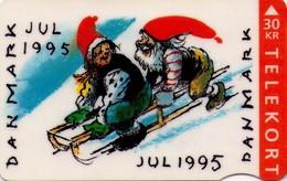 TARJETA TELEFONICA DE DINAMARCA. TDJS035, Christmas 1995, 10.95. CN2542, TIRADA 75000 (060) - Dinamarca
