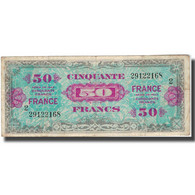France, 50 Francs, 1944, 1944, TB, Fayette:19.1, KM:117a - 50 F 1889-1927 ''Bleu Et Rose''