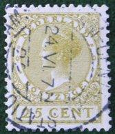 25 Ct Wilhelmina No Watermark NVPH 157 (Mi 158 A) 1924 -1925 1926 Gestempeld / USED NEDERLAND / NIEDERLANDE - 1891-1948 (Wilhelmine)
