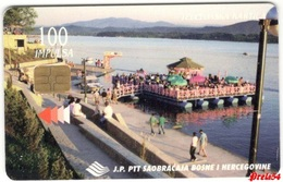 Bosnia PTT Sarajevo - Lake Modrac 100 Units Used - Bosnia
