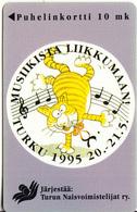 FINLAND - Musiikista Liikkumaan Turku 1995, Turun Puhelin Telecard, Tirage 10000, Exp.date 12/97, Used - Finland