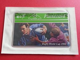 UK - L&G - BT 40u RUGBY WORLD CUP 1991 - MINT Sealed Blister NSB - United Kingdom
