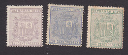 Cuba, Scott #63-65, Mint Hinged, Coat Of Arms, Issued 1875 - Cuba (1874-1898)