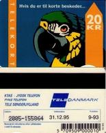 TARJETA TELEFONICA DE DINAMARCA. TDJD011A, Parrot With Text, 9.93 - CN2005 (086) - Dinamarca