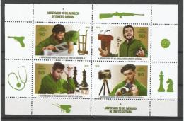 Cuba 2018 90th Anniversary Of Ernesto Che Guevara´s Birthdate (Chess, Tobacco, Radio, Photographer, Medicine) M/S  - Ajedrez