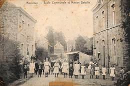 Rouvreux - Ecole Communale Et Maison Detaille (animée, Rare....état, Adhésif) - Sprimont