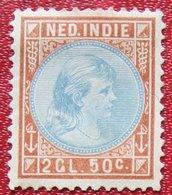 Read Prinses Wilhelmina 2,50 Gld NVPH 30 1892-1897 Ongebruikt / MH NEDERLAND INDIE / DUTCH INDIES - Netherlands Indies