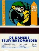 TARJETA TELEFONICA DE DINAMARCA. TDKD029Ab, Parrot - Type 1 - 11.91 - CN1000 (088) - Dinamarca