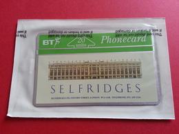 UK - L&G - 20u SELFRIDGES - MINT BUT NOT SEALED BLISTER - BT Advertising Issues