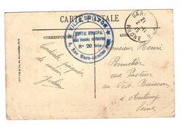 Marcophilie Guerre 1914 1918 Cachet Ville De Lyon Hopital Municipal Des Blessés Militaires N° 20 Bis Cachet 1915 - Postmark Collection (Covers)