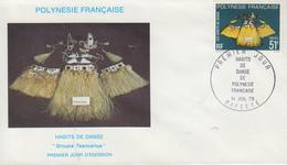 Enveloppe  FDC   1er  Jour   POLYNESIE   Habits  De  Danse  1979 - FDC