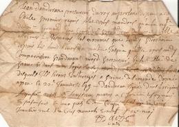 Vieux Papier Du Béarn, 1699, Sommation Du Procureur Jean Danduran Aux époux Loustau, Réunion à Son Domicile Palois - Documents Historiques