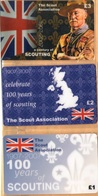 United Kingdom - A Century Of Scouting 1907-2007, The Scout Association (GB), Set Of 3, Remote Memory, 1/2/3 £, Mint - To Identify