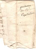 Vieux Papier Du Béarn, Aubertin (64), 1767, Quittance De La Capitation Du Vicq Du Plaa Par Le Garde Larrocque - Documents Historiques