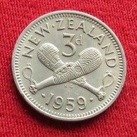 New Zealand 3 Pence 1959 KM# 25.2 Nova Zelandia Nuova Zelanda Nouvelle Zelande - Nuova Zelanda