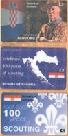 Croatia - A Century Of Scouting 1907-2007, Scouts Of Croatia, Set Of 3, Remote Memory, 1/2/3 £, Mint - Croatia
