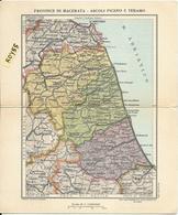 Marche Abruzzo Umbria Lazio Cartolina Geografica Veduta Provincie Macerata Ascoli Aquila Teramo Rieti Perugia - Cartoline