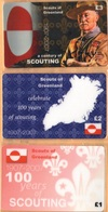 Greenland - A Century Of Scouting 1907-2007, Scouts Of Greenland, Set Of 3, Remote Memory, 1/2/3 £, Mint - Greenland