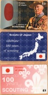 Japan - A Century Of Scouting 1907-2007, Scouts Of Japan, Set Of 3, Remote Memory, 1/2/3 £, Mint - Japan
