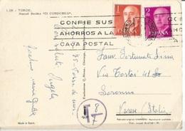 Spain Underfranked PPC Girona 22apr1975 X Italy Taxed 8/7 - 1931-Aujourd'hui: II. République - ....Juan Carlos I