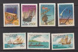 1992 Tanzania Discovery America Columbus Ships Complete Set Of 7 MNH - Tanzanie (1964-...)